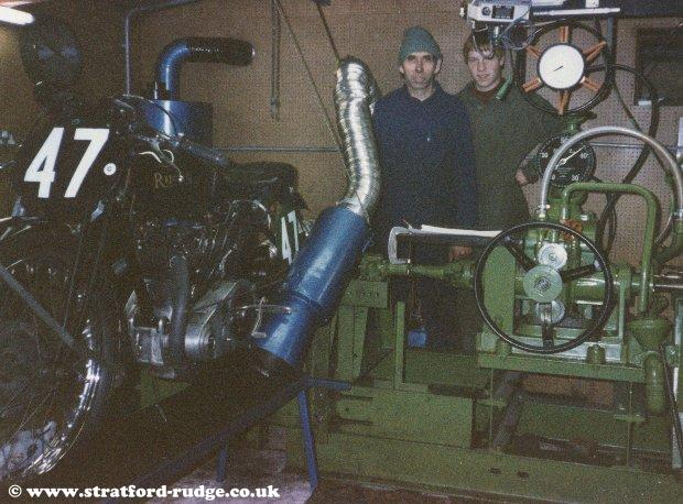 Mervyn and Roy at the Dyno.